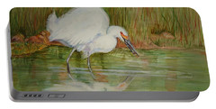 White Egret Wading  Portable Battery Charger