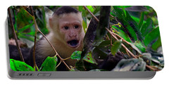 Portable Battery Charger featuring the photograph White-faced Capuchin Monkey by Gary Keesler