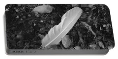 White Feather Portable Battery Charger by Randi Grace Nilsberg