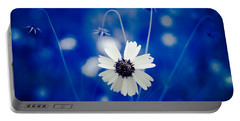 White Flower Portable Battery Charger