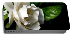 Portable Battery Charger featuring the photograph White Gardenia by Rose Santuci-Sofranko