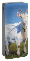 White Goat Portable Battery Charger