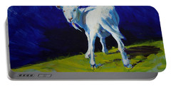 White Goat Painting Portable Battery Charger