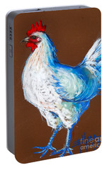 White Hen Portable Battery Charger by Mona Edulesco