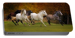 White Horse Vale Lipizzans Portable Battery Charger