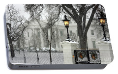 White House Christmas Portable Battery Charger by Andrew Romer