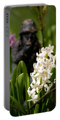 White Hyacinth In The Garden Portable Battery Charger