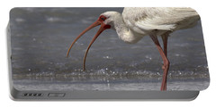 Portable Battery Charger featuring the photograph White Ibis On The Beach by Meg Rousher