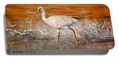 White Ibis Stroll Portable Battery Charger by Betsy Knapp