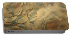 Portable Battery Charger featuring the photograph  Impressionisticwhite Roses by Dora Sofia Caputo Photographic Art and Design