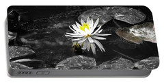 White Lilly Portable Battery Charger