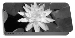 White Lotus 2 Portable Battery Charger by Ellen Henneke