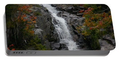 Portable Battery Charger featuring the photograph White Mountain Water Fall  by Denyse Duhaime