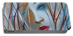 Portable Battery Charger featuring the painting White Nostalgia 010310 by Selena Boron