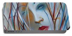 White Nostalgia 010310 Portable Battery Charger by Selena Boron