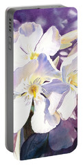 White Oleander Portable Battery Charger