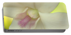 Portable Battery Charger featuring the photograph White Orchid by Greg Allore