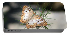 Portable Battery Charger featuring the photograph White Peacock by Karen Silvestri
