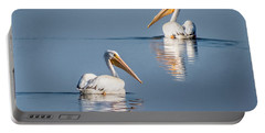 Portable Battery Charger featuring the photograph White Pelicans by Patti Deters