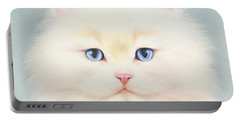 White Persian Portable Battery Charger