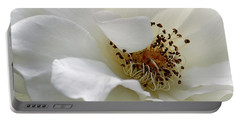 White Petals Portable Battery Charger