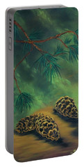 White Pine  And Cones Portable Battery Charger