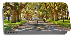 White Point Gardens At Battery Park Charleston Sc Hdr Portable Battery Charger
