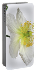 White Poppy Portable Battery Charger