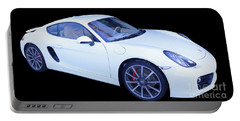 White Porsche Cayman S Portable Battery Charger