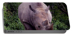 White Rhinoceros Water Coloring Portable Battery Charger