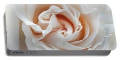 White Rose Portable Battery Charger by Tiffany Erdman