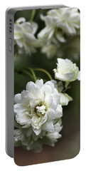 Portable Battery Charger featuring the photograph White Roses by Joy Watson