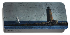 Portable Battery Charger featuring the photograph White Sails On Blue  by Jeff Folger