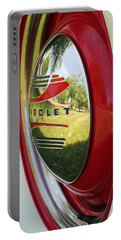 Portable Battery Charger featuring the photograph White Sidewalls On Chevy by E Faithe Lester