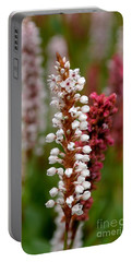 White Stalk Flower Portable Battery Charger