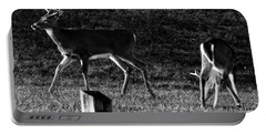 White Tailed Deer Portable Battery Charger by Chris Flees
