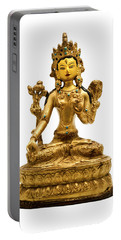 Portable Battery Charger featuring the photograph White Tara by Fabrizio Troiani