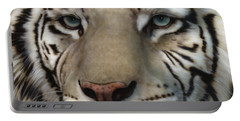 White Tiger - Up Close And Personal Portable Battery Charger