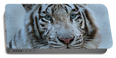 White Tiger Portable Battery Charger by Sandy Keeton
