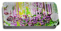 Portable Battery Charger featuring the photograph White Washed Painted Lilac by Judy Palkimas