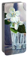 White White Jasmine  Portable Battery Charger