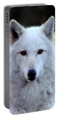 White Wolf Close Up Portable Battery Charger