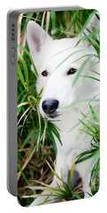 Portable Battery Charger featuring the photograph White Wolf by Erika Weber