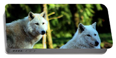 White Wolves Portable Battery Charger