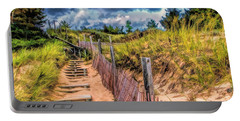 Whitefish Dunes State Park Stairs Portable Battery Charger