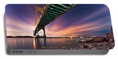 Portable Battery Charger featuring the photograph Whitestone Bridge by Mihai Andritoiu