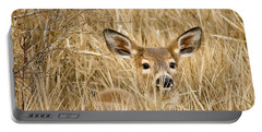 Whitetail In Weeds Portable Battery Charger