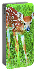 Whitetailed Deer Fawn Digital Image Portable Battery Charger