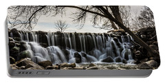 Whitnall Waterfall In Spring Portable Battery Charger