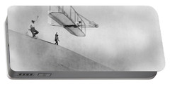 Wilbur Wright Pilots Early Glider 1901 Portable Battery Charger